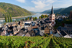 Bacharach village on Romantic River Rhine in Germany