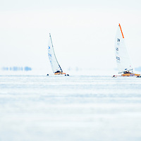 Ice yacht racing on Vermont's Lake Champlain