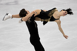 February 11, 2018 - Gangneung, South Korea - TESSA VIRTUE and SCOTT MOIR of Canada compete during the Figure Skating Team Event Ice Dance Short Dance at the PyeongChang 2018 Winter Olympic Games at Gangneung Ice Arena. (Credit Image: © Paul Kitagaki Jr. via ZUMA Wire)