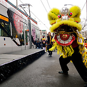 First Hill Streetcar Community Celebration in Seattle Chinatown-ID with David Leong's NW Kung Fu Lion Dance Team. Photo by Alabastro Photography.
