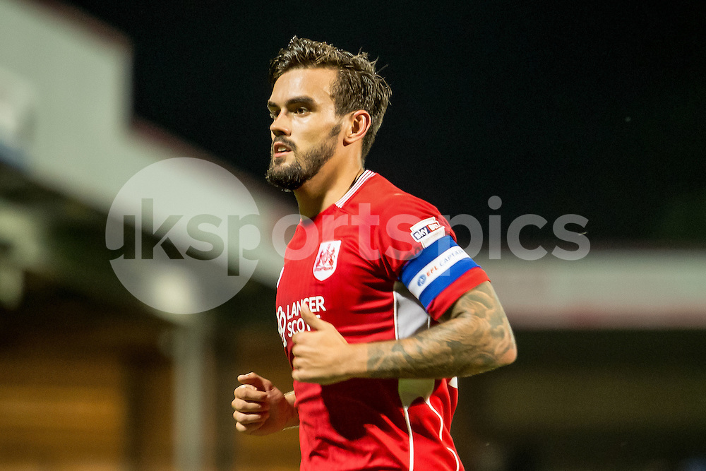 Marlon Pack of Bristol City during the EFL Cup second round match between Scunthorpe United and Bristol City at Glanford Park, Scunthorpe, England on 23 August 2016. Photo by James Williamson.