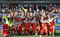 AMSTELVEEN -  Oranje kampioen na  de finale Belgie-Nederland (2-4) bij de Rabo EuroHockey Championships 2017. rechts op de voorgrond Billy Bakker . COPYRIGHT KOEN SUYK