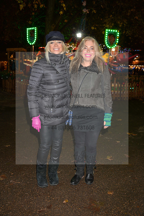 Left to right, JO WOOD and BRIX SMITH START at the Hyde Park Winter Wonderland - VIP Preview Night, Hyde Park, London on 17th November 2016.