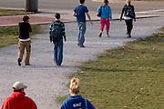 17272Campus Shots Winter Students Diversity