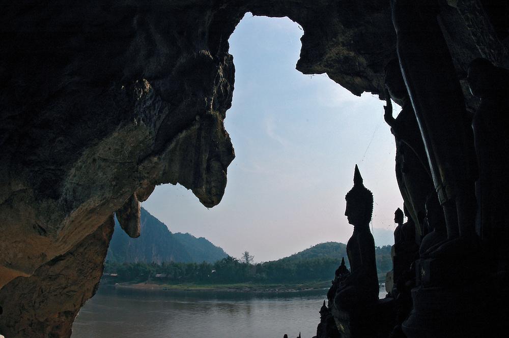 Buddha statues in  Pak Ou cave, Luang Prabang, Laos