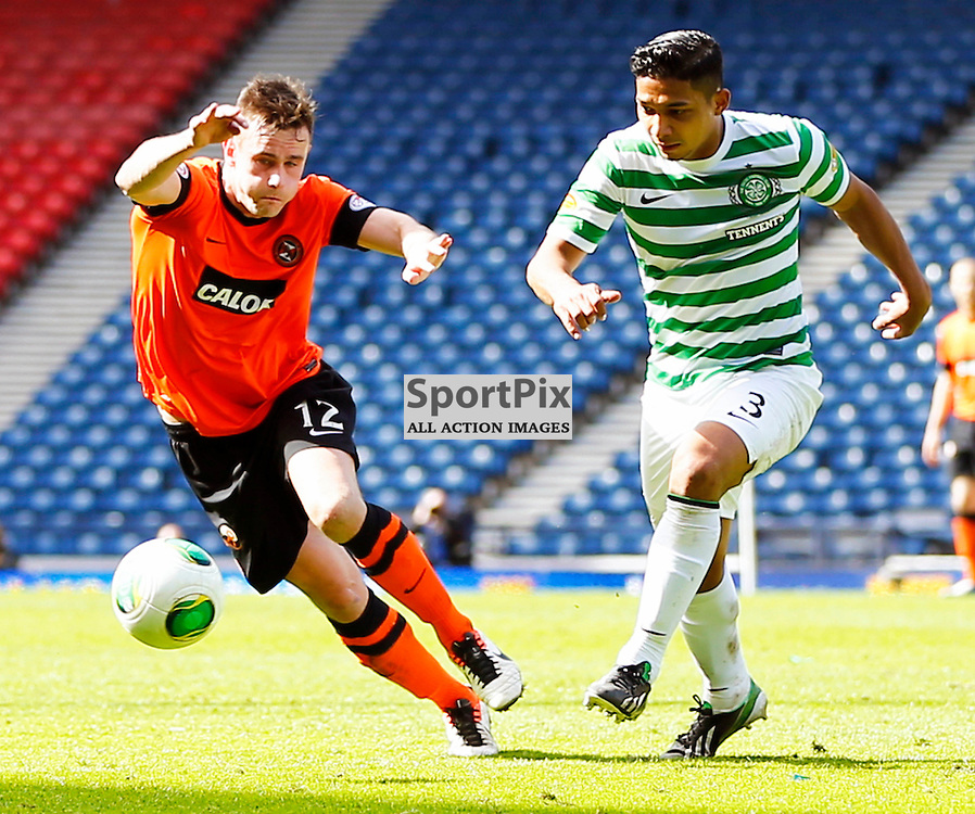 Dundee United v Celtic Scottish Cup Semi Final...Keith Watson beats Emilio Izaguirre to the ball....(c) STEPHEN LAWSON | StockPix.eu