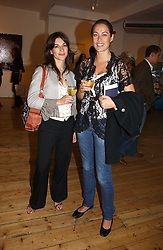 Left to right, ALI HILLMAN and CRESSIDA WILSON at a private view of artist Adam Bricusse's paintings entitles 'The Mysteries Within' held at the Charing X Gallery, 121-125 Charing Cross Road, London WC2 on 12th September 2006.<br />