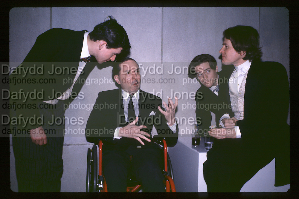 Geoffry Gasperini, Fred Hughes, Peter Mc Gough, David Macdermot Exhibition Tina Chow collection, fashion institute 7 Ave. New York 16.3.92© Copyright Photograph by Dafydd Jones 66 Stockwell Park Rd. London SW9 0DA Tel 020 7733 0108 www.dafjones.com