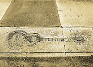 B.B.King's handprints and guitar impression in cement. Indianola, Mississippi (his hometown) The Mississippi Delta