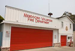 The Mendocino Volunteer Fire Department, Mendocino, California, USA.
