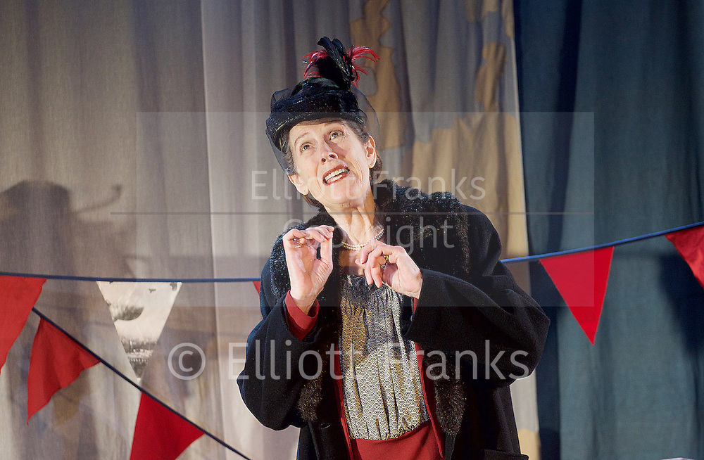 Mrs Roosevelt Flies to London<br /> presented by Hint of Lime <br /> at The King's Head Theatre, London, Great Britain<br /> Press photocall<br /> 15th April 2015 <br /> <br /> written and performed by <br /> Alison Skilbeck<br /> <br /> Alison Skilbeck as Eleanor Roosevelt <br /> <br /> <br /> Photograph by Elliott Franks <br /> Image licensed to Elliott Franks Photography Services
