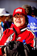 Bill Demong's mom, Helen at a celebratory parade honoring North Country Winter Olympic Athletesin Sarnac Lake, NY. (Photo/Todd Bissonette - http://www.rtbphoto.com