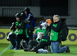 NEWPORT, WALES - Thursday, April 4, 2019: Photographers during an International Friendly match between Wales and Czech Republic at Rodney Parade. (Pic by David Rawcliffe/Propaganda)