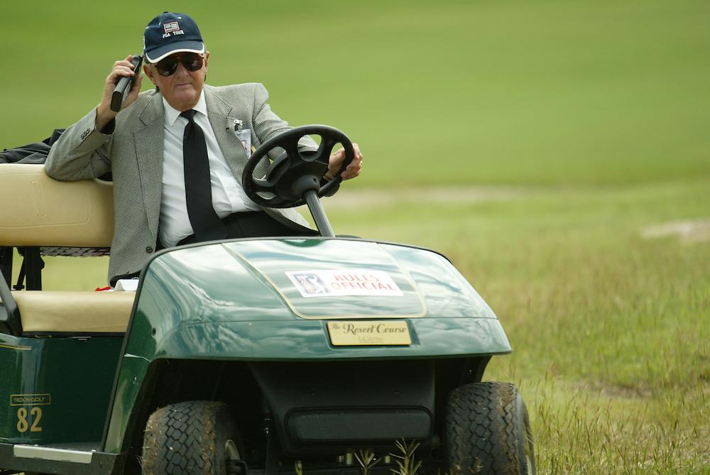 Wade Cagle, PGA Tour rules official..2003 Valero Texas Open..Westin La Cantera Resort..San Antonio, TX..Friday, September 26 2003..photograph by Darren Carroll