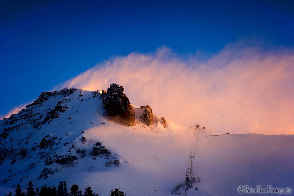 Sierra Nevada and Snow at Kirkwood Ski Resort.