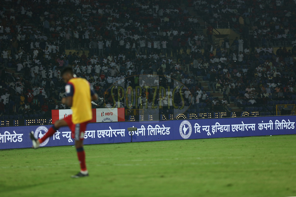 Branding during match 2 of the Hero Indian Super League between NorthEast United FC and Jamshedpur FC held at the Indira Gandhi Athletic Stadium, Guwahati India on the 18th November 2017<br /> <br /> Photo by: Saikat Das  / ISL / SPORTZPICS