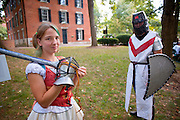 19027Freshman Convocation 9/07/08..Medieval Society....Michelle Stull and Clayton Kawalec