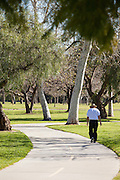 Walking In El Dorado Regional Park In Long Beach California