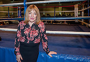 ONLINE FEES TO BE AGREED<br /> EXCLUSIVE<br /> Kellie Malloney back in boxing  <br /> <br /> Exclusive pictures of Kellie Malloney pictured at Villa Park for her first appearance back in boxing Kellie revealed last month she will be making a come back into boxing, Kellie was also there with her close friend White Dee<br /> ©Exclusivepix Media