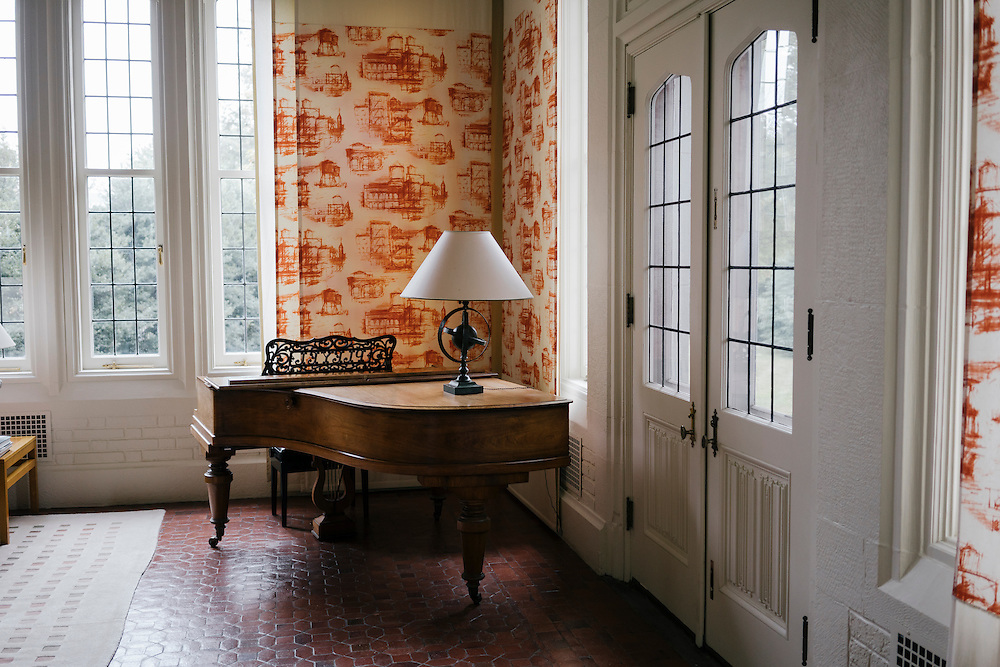 A piano in the Salon d'Hiver (Winter Room) of the French Ambassador's residence in the Kalorama neighborhood of Washington D.C. France acquired the residence in 1936.