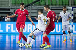Dragan Tomic of Serbia during futsal match between Serbia and Italy at Day 3 of UEFA Futsal EURO 2018, on February 1, 2018 in Arena Stozice, Ljubljana, Slovenia. Photo by Urban Urbanc / Sportida