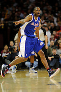 Jan 31, 2010; Cleveland, OH, USA; Los Angeles Clippers forward Marcus Camby (23) argues an out of bounds call during the third quarter against Cleveland Cavaliers at Quicken Loans Arena. The Cavaliers beat the Clippers 114-89. Mandatory Credit: Jason Miller-US PRESSWIRE