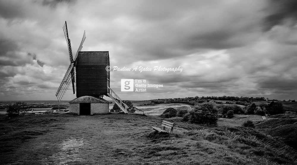 The windmill at Brill, Buckinghamshire on a windy summer's day. Taken with ND110 filter<br />