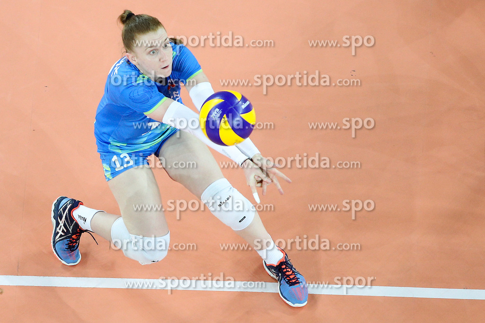 Sara Najdic of Slovenia during volleyball match between Slovenia and Slovakia in CEV European League Women on June 22, 2016 in Stozice, Ljubljana, Slovenia. Photo by Morgan Kristan / Sportida