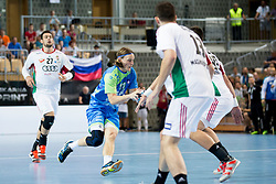 Jure Dolenc of Slovenia during handball game between Man National Teams of Slovenia and Hungary in 2019 Man's World Championship Qualification, on June 9, 2018 in Arena Bonifika, Ljubljana, Slovenia. Photo by Urban Urbanc / Sportida