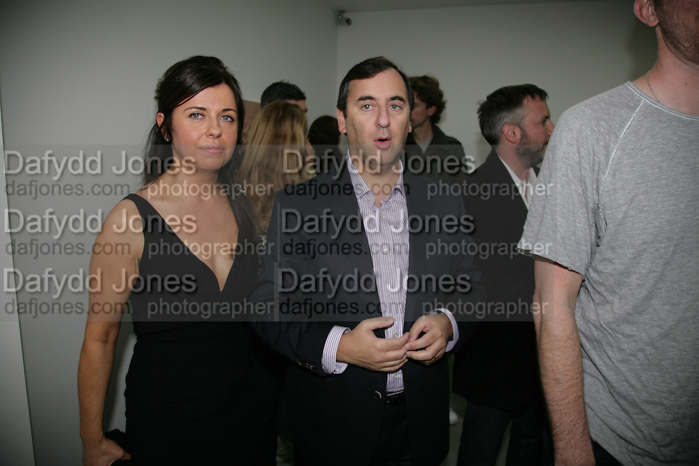 ALISON JACQUES, EDWARD LEE, private view  of new exhibition by Tim Stoner , Alison Jacques Gallery in new premises in Berners St., London, W1 ,Afterwards across the rd. at the Sanderson Hotel. 3 May 2007. DO NOT ARCHIVE-© Copyright Photograph by Dafydd Jones. 248 Clapham Rd. London SW9 0PZ. Tel 0207 820 0771. www.dafjones.com.