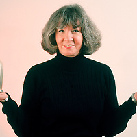 Executive portrait, Sue Grafton, one of the nation's most financially successful authors who writes murder mysteries with titles that begin with letters.