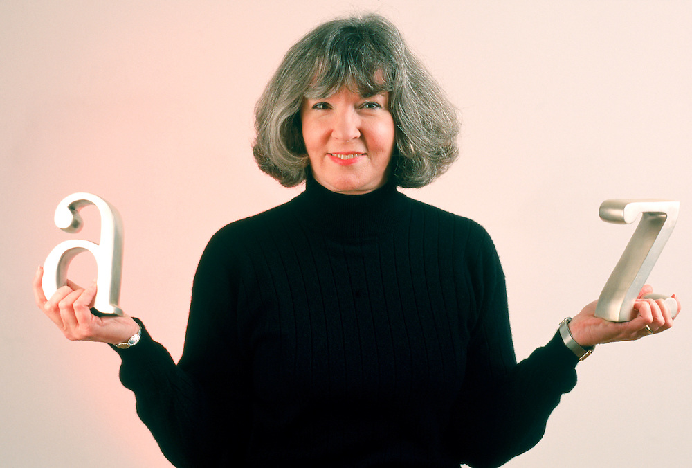 Executive portrait, Sue Grafton, one of the nation's most financially successful authors who writes murder mysteries with titles that begin with letters.<br />