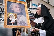 "France, Paris, 23 September 2017. Protest  march ""marche contre Coup d'état social"" organised by the left wing political party ""France Insoumise""."