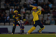 George Bailey of Hampshire batting during the NatWest T20 Blast South Group match between Hampshire County Cricket Club and Glamorgan County Cricket Club at the Ageas Bowl, Southampton, United Kingdom on 10 August 2017. Photo by Dave Vokes.