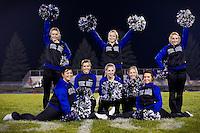 Coeur d'Alene High Viking cheerleaders.
