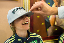 Katja Pozun during official presentation of the outfits of the Slovenian Ski Teams before new season 2015/16, on October 6, 2015 in Kulinarika Jezersek, Sora, Slovenia. Photo by Vid Ponikvar / Sportida