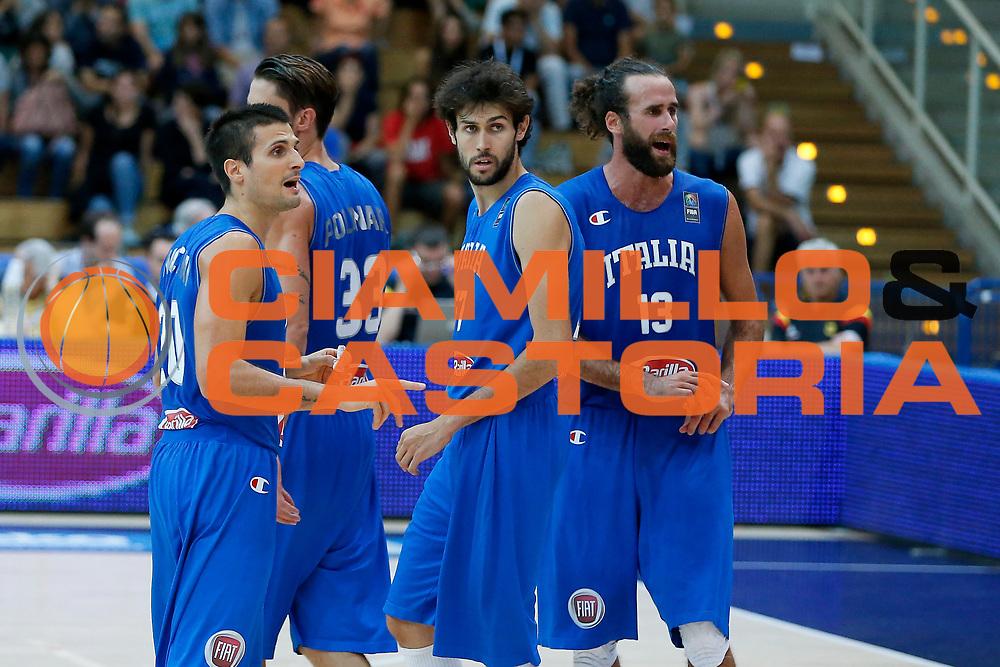 DESCRIZIONE : Trento Nazionale Italia Uomini Trentino Basket Cup Italia Italy Germania Germany<br /> GIOCATORE : Andrea Cinciarini Davide Pascolo Luigi Datome<br /> CATEGORIA : Ritratto <br /> SQUADRA : Italia Italy<br /> EVENTO : Trentino Basket Cup<br /> GARA : Italia Germania Italy Germany<br /> DATA : 01/08/2015<br /> SPORT : Pallacanestro<br /> AUTORE : Agenzia Ciamillo-Castoria/G.Contessa<br /> Galleria : FIP Nazionali 2015<br /> Fotonotizia : Trento Nazionale Italia Uomini Trentino Basket Cup Italia Germania