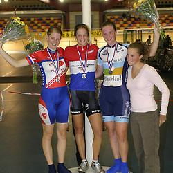 ALKMAAR (NED) wielrennen<br /> NK Baanwielrennen ; vrouwen; ; klassement