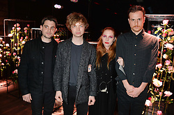 Group Singtank with Josephine de la Baume, her brother Alexandre de la Baume, Andrew Woodhead and Alberto Cabrera at the Lancôme pre BAFTA party held at The London Edition, 10 Berners Street, London on 14th February 2014.