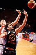 DESCRIZIONE : Milano Lega A1 2008-09 Armani Jeans Milano Solsonica Rieti<br /> GIOCATORE : Vangelis Sklavos Mindaugas Katelynas<br /> SQUADRA : Solsonica Rieti Armani Jeans Milano<br /> EVENTO : Campionato Lega A1 2008-2009<br /> GARA : Armani Jeans Milano Solsonica Rieti<br /> DATA : 30/11/2008<br /> CATEGORIA : Rimbalzo<br /> SPORT : Pallacanestro<br /> AUTORE : Agenzia Ciamillo-Castoria/G.Cottini