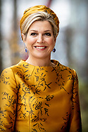 6-12-2018 AMSTERDAM Queen Maxima opens the new office building of the Charity Lotteries in Amsterdam on Thursday 6 December 2018. Copyright Robin Utrecht