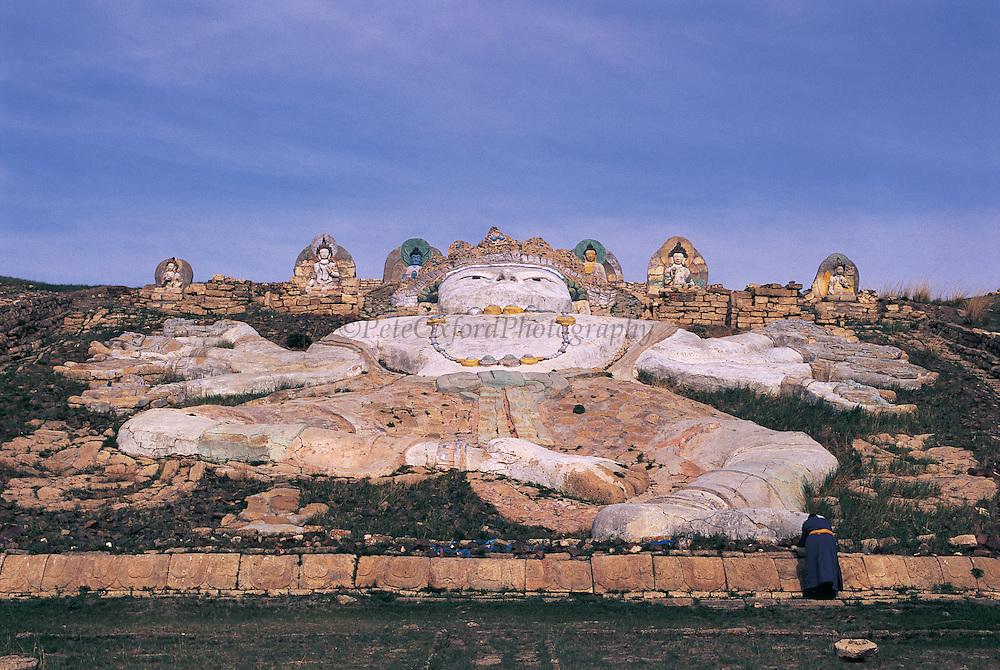 Large Buddha Effigy<br /> Dornod Province<br /> Eastern Mongolia