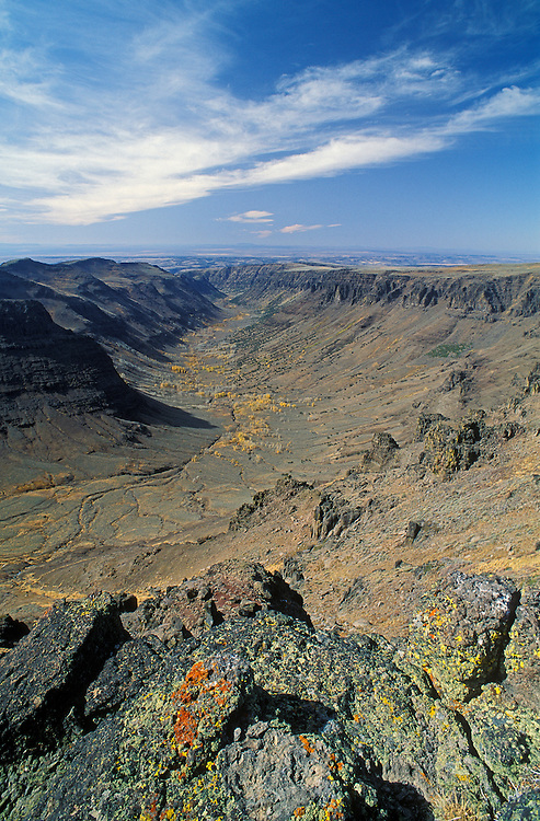 Big Indian Gorge on Steens Mountain in southeast Oregon.