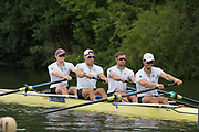 Henley-on-Thames. United Kingdom.  <br /> Visitors Challenge Cup. Cambridge University.Bow. F DAVIDSON, A.MALOWANY, B.RUBLE and P. EBLE<br /> <br /> 2017 Henley Royal Regatta, Henley Reach, River Thames. <br /> <br /> 14:30:02  Saturday  01/07/2017   <br /> <br /> [Mandatory Credit. Peter SPURRIER/Intersport Images.