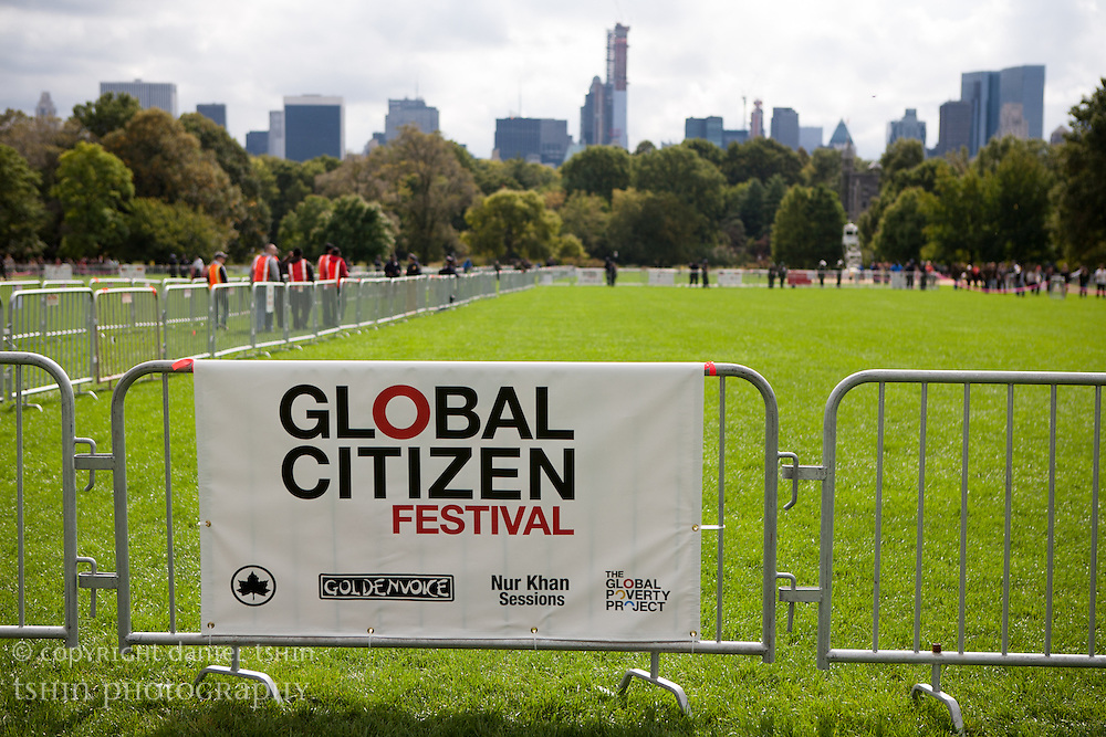A massive, free ticketed advocacy concert aiming to put the movement to end extreme poverty in the headlines, the Global Citizen Festival featured Neil Young with Crazy Horse, Foo Fighters, The Black Keys, Band of Horses & K'Naan playing at the Great Lawn in Central Park, New York City on 29 September 2012.
