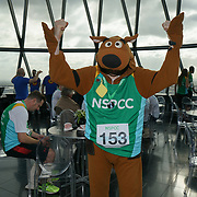 London, England, UK. Hundreds participlate The Gherkin Challenge at the The Gherkin rise fund for NSPCC help children across the UK to rebuild their lives.