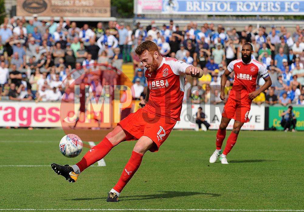 Cian Bolger of Fleetwood Town clears upfield - Mandatory by-line: Neil Brookman/JMP - 26/08/2017 - FOOTBALL - Memorial Stadium - Bristol, England - Bristol Rovers v Fleetwood Town - Sky Bet League One