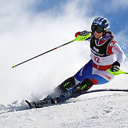Esther Good, Switzerland, in action during the Women's Slalom event during the Winter Games at Cardrona, Wanaka, New Zealand, 24th August 2011. Photo Tim Clayton...
