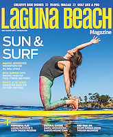 Taylor Chaput of Paddleboard Bliss for Firebrand Media's Laguna Beach magazine. Photo by Robert Zaleski/rzcreative.com