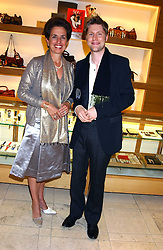 "CHRISTOPHER BAILEY and ROSE MARIE BRAVO and at a party hosted by Christopher Bailey to celebrate the launch of ""The Snippy World of New Yorker Fashion Artist Michael Roberts"" held at Burberry, 21-23 New Bond Street, London on 20th September 2005.<br />